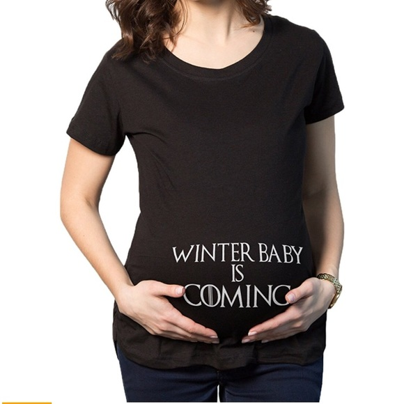 7f39a9460d569 Crazy Dog T-Shirts Tops - Game of Thrones Winter Baby is Coming Shirt Large